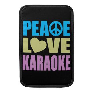 Peace Love Karaoke MacBook Sleeves