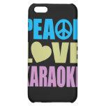 Peace Love Karaoke iPhone 5C Cases