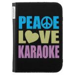 Peace Love Karaoke Kindle Folio Cases