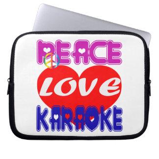 Peace Love Karaoke Laptop Sleeve