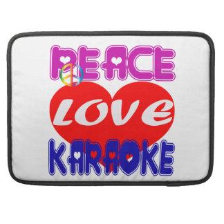 Peace Love Karaoke Sleeve For MacBooks