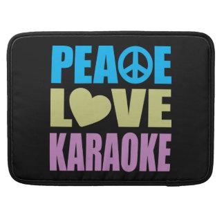 Peace Love Karaoke Sleeves For MacBook Pro
