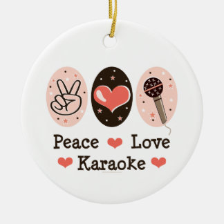 Peace Love Karaoke Ornament
