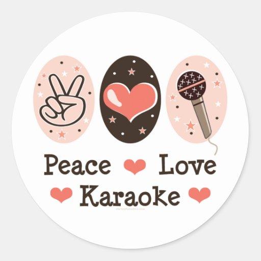 Peace Love Karaoke Stickers