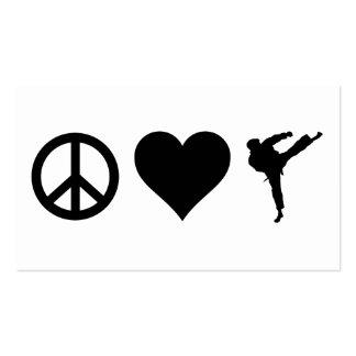 Peace Love Karate Business Card Template