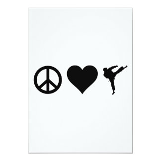 Peace Love Karate Card