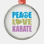Peace Love Karate Christmas Ornament
