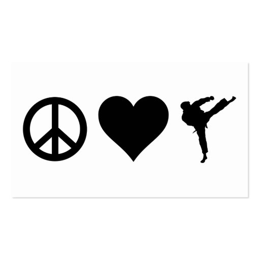 Peace Love Karate Double-Sided Standard Business Cards (Pack Of 100)