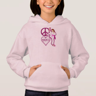 Peace Love Karate Girl Customize Personalized Hoodie