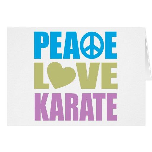 Peace Love Karate Greeting Card