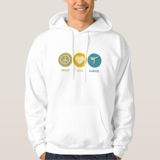 Peace Love Karate Hooded Pullover