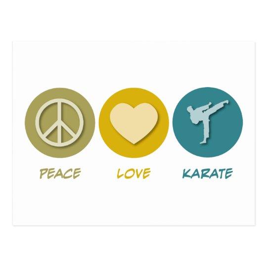 Peace Love Karate Postcard