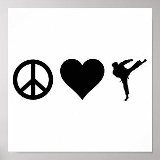 Peace Love Karate Poster