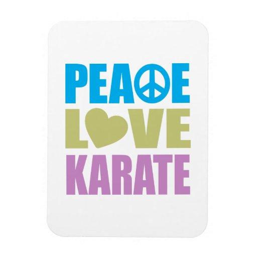 Peace Love Karate Rectangular Photo Magnet