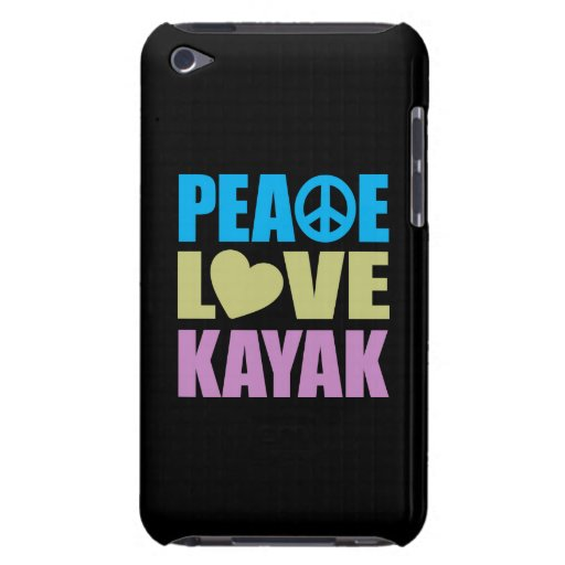 Peace Love Kayak Barely There iPod Cases