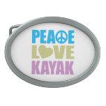 Peace Love Kayak Belt Buckles