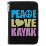 Peace Love Kayak Kindle Keyboard Case
