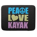 Peace Love Kayak MacBook Pro Sleeve