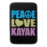 Peace Love Kayak MacBook Sleeve