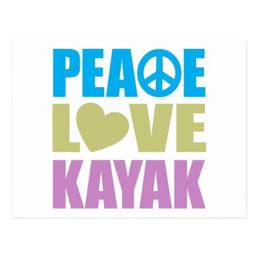Peace Love Kayak Postcards