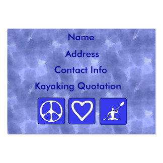Peace Love Kayaking Large Business Cards (Pack Of 100)