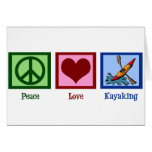 Peace Love Kayaking Cards