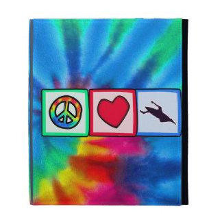 Peace, Love, Kayaking iPad Folio Covers