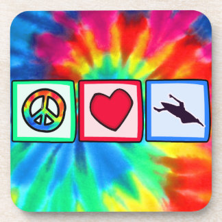 Peace, Love, Kayaking Drink Coaster