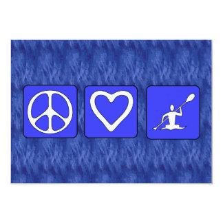 "Peace Love Kayaking 5"" X 7"" Invitation Card"