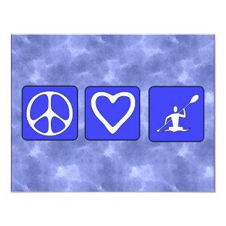 "Peace Love Kayaking 4.25"" X 5.5"" Invitation Card"