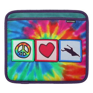 Peace, Love, Kayaking iPad Sleeve
