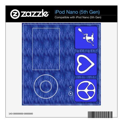 Peace Love Kayaking iPod Nano 5G Decals