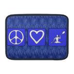 Peace Love Kayaking MacBook Sleeve