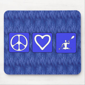 Peace Love Kayaking Mouse Pad
