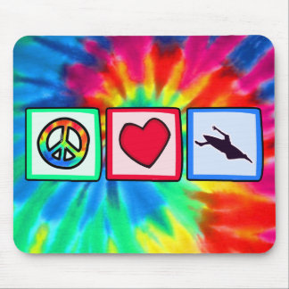 Peace, Love, Kayaking Mouse Pads