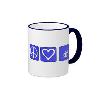 Peace Love Kayaking Coffee Mugs