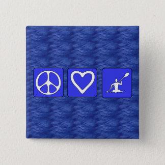 Peace Love Kayaking Pinback Button