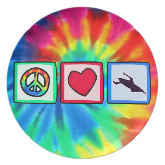 Peace, Love, Kayaking Party Plate