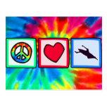 Peace, Love, Kayaking Post Card
