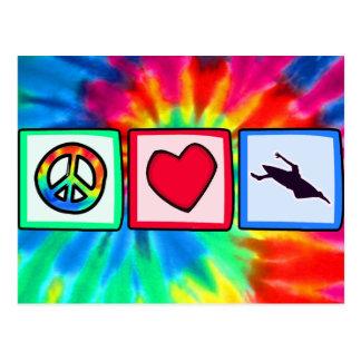 Peace, Love, Kayaking Postcard