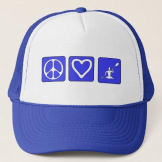Peace Love Kayaking Trucker Hat