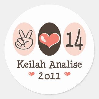 Peace Love Keilah Stickers