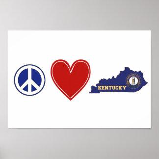 Peace Love Kentucky Poster