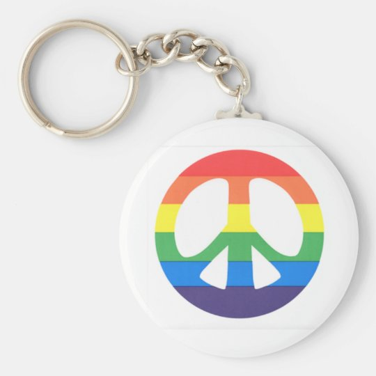 Peace love keychain