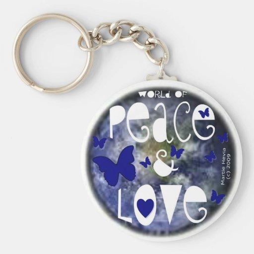 Peace & Love - Keychain