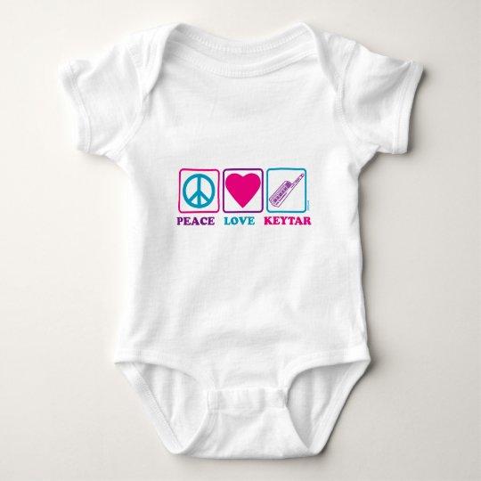 Peace Love Keytar Baby Bodysuit