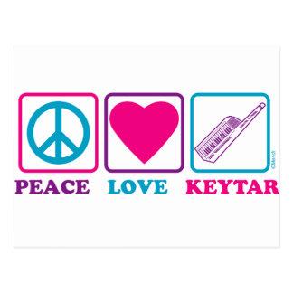 Peace Love Keytar Postcard