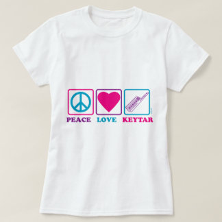 Peace Love Keytar T-Shirt