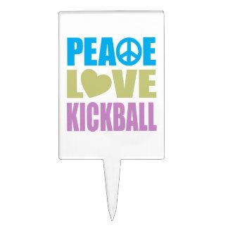 Peace Love Kickball Cake Picks