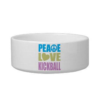 Peace Love Kickball Pet Water Bowls